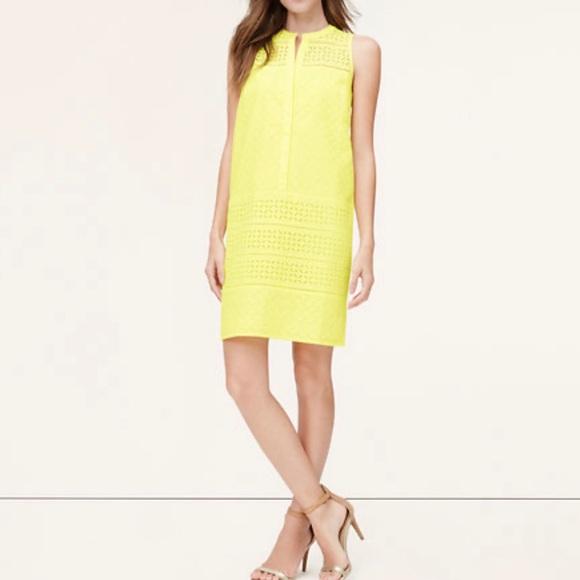 LOFT Dresses & Skirts - LOFT Mixed Eyelet Club Dress Size 0
